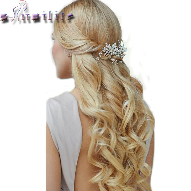 S noilite 20 inches 7 Pieces Set Full Head Weft Curly Clip in Hair Extensions Real