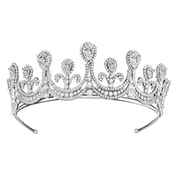 Woodqiqi zirconia crown diademas metal cheveux mariage acessorios noiva princess tiara coroa casamento accesories for hair