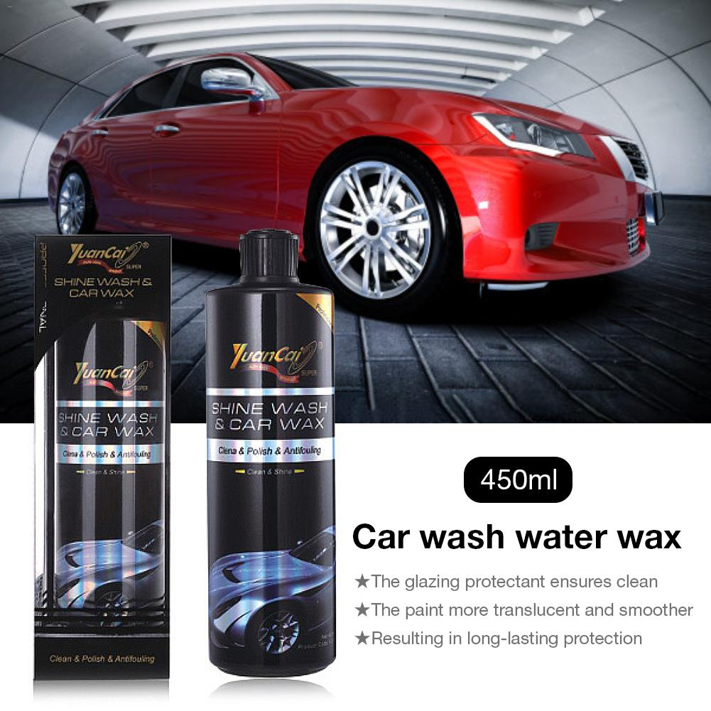 Car Wash Water Wax 450ml Car Cleaning Supplies Foam Car Wash Liquid To Oil Without Dewaxing Ceramic Car Coating Polish