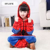 Pijama Infantil Onesie Hooded Kids Animal Cartoon Pajama Spiderman Red Children Boy Girl Unisex Pyjama