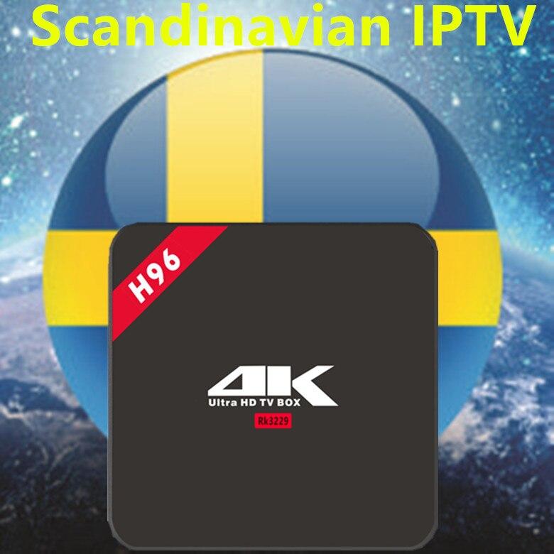 Шведская IPTV приставка H96 4 K Android 6,0 ТВ коробка для швецкий/французский/немецкий/Италия/XXX/Европа 4000 + скандинавские каналы Декодер каналов кабельного телевидения