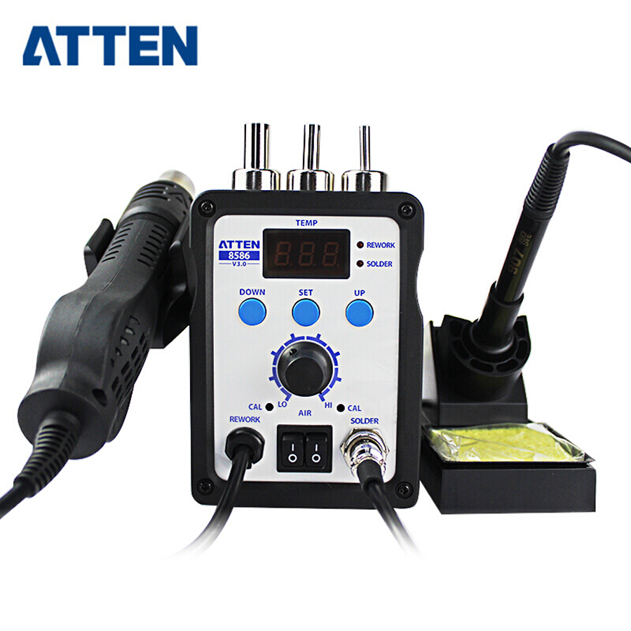 ATTEN AT8586 2-in-1 Hot Air Soldering Station SMD Hot Air Rework Station Digital Display