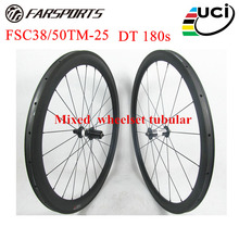 Top carbon bike wheelset with DT 180s carbon ceramic hubs 20H 24H 38mm 50mm mixed road