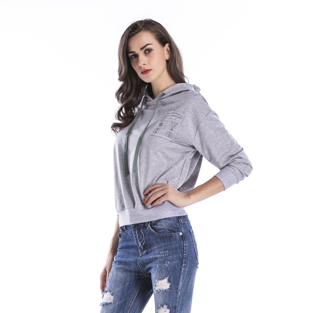 YYFS 2019 Spring Loose Thin Hoodies Women Hooded Solid Casual Female Sweatshirts Pullover Autumn Tops Pocket Tracksuits Women in Hoodies amp Sweatshirts from Women 39 s Clothing