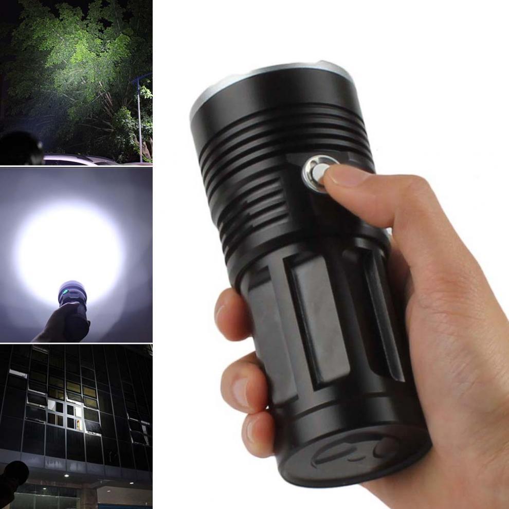 LED Flashlight 13x XML-T6 LED Waterproof Super Bright Backpacking Hunting Fishing Torch Flash Lamp