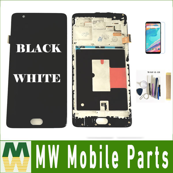 For OnePlus 3T A3003 A3010 1+3T LCD Display+Touch Screen Assembly with frame Black color with tape&tools&soft protective filmFor OnePlus 3T A3003 A3010 1+3T LCD Display+Touch Screen Assembly with frame Black color with tape&tools&soft protective film