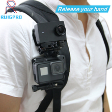 360 Degree Quick Release Rotary Backpack Hat Clip Fast Clamp Mount For GoPro Hero 7 6 5 4 3  for Go pro Sports Action Cameras цена 2017