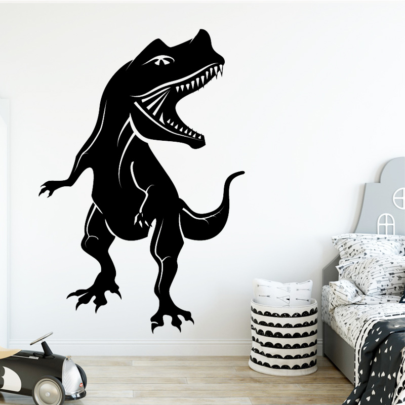 fierce Tyrannosaurus Wall sticker PVC Wall Stickers Wall Art Wall Paper for Home Decor Living Room Bedroom Decoration Accessorie