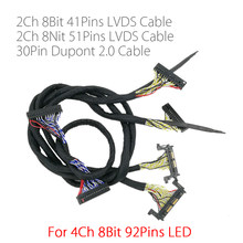 Untuk 4 K FHD LED TV 60 hz-120 HZ panel lvds kabel 41 p + 51 p 2CH untuk led controller papan v56 MST6M30KU V1.0(China)