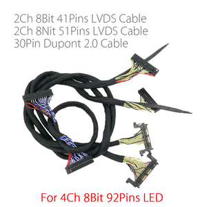 Image 1 - Per 4K FHD LED TV 60hz 120HZ pannello lvds cavo 41p 51p 2CH per scheda controller led v56 MST6M30KU V1.0