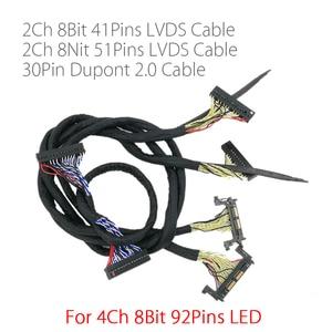 Image 1 - Pour 4K FHD LED TV 60hz 120HZ panneau lvds câble 41p + 51p 2CH pour carte led de contrôle v56 MST6M30KU V1.0