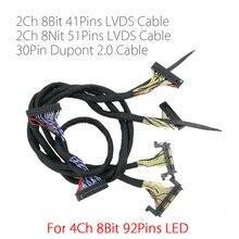 Voor 4K Fhd Led Tv 60Hz 120Hz Panel Lvds Kabel 41P + 51P 2CH voor Led Controller Board V56 MST6M30KU V1.0