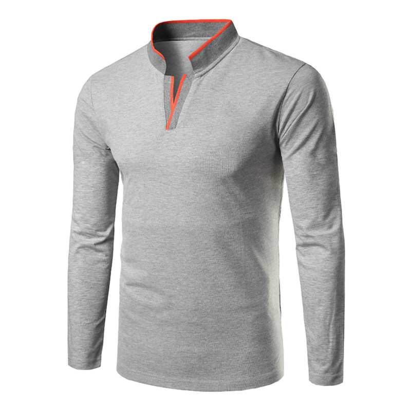 Polo   Shirt Men 2019 New Solid Fashion Casual Breathable Organic Cotton Camisa   Polo   Masculina Men Long Sleeve Shirt   Polos