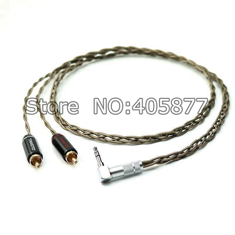 Пара Odin посеребренный 2RCA аудио кабель до 3,5 мм Прямоугольный штекер аудио видео кабель