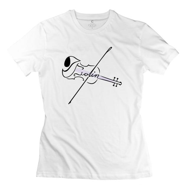 cd6f20e4dd 2015 Swag The Violin With Strings Women t-shirt Fashion Short Sleeve 100%  Cotton Lady t shirt Free Shipping