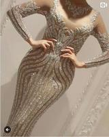 Sexy Sparkly Completa Pedrinhas Luxo Vestido Longo Vestido Comemora Aniversário Outfit Traje Cantora Bling Desgaste