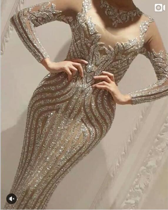 Sexy Sparkly Full Rhinestones Luxury Long Dress Birthday Dress Celebrate Outfit Costume