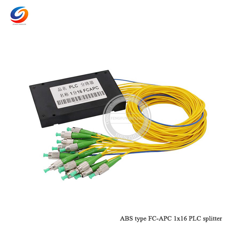 Best price ABS Box FC APC 1x16 1M 2.0MM PLC Splitter singlemode ABS FC APC 1X16 PLC Fiber optical splitter