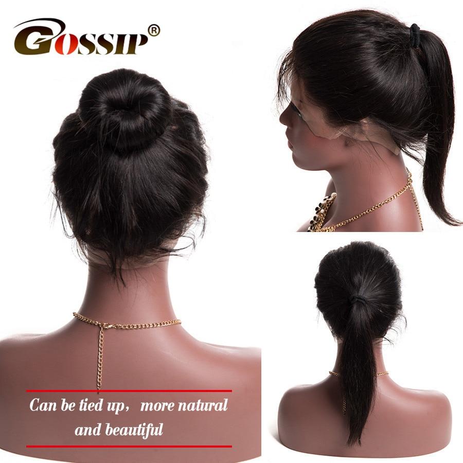 Fül-fül 360-as csipke elülső bezárása 100% -os emberi haj - Emberi haj (fekete)