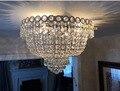 Ouro Chrome Luz de Teto Da Lâmpada de Iluminação Luz de Teto de Cristal Moderna Luminária Garantido 100% + Frete grátis!