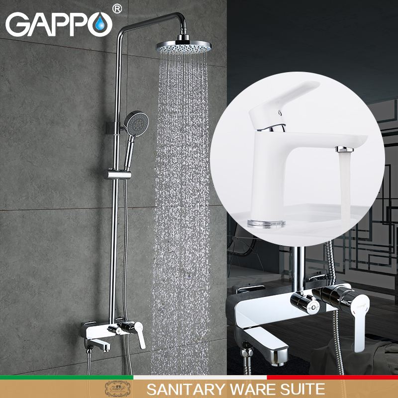 GAPPO shower faucet bathroom faucet mixer bath tap mixers bath shower head brass rainfall Bathtub taps Sanitary Ware Suite