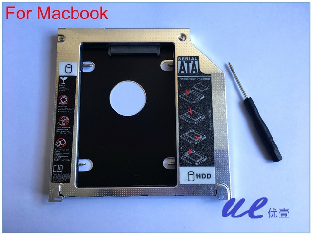 New Caddy for Apple Macbook Pro 2nd HDD Hard Drive Caddy Module Tray SATA 9.5mm Free Shipping