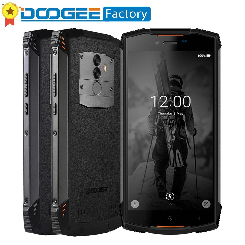 DOOGEE S55 IP68 Waterpoof Octa Core de Smartphones 5500 mah Android 8.0 5.5 Tela HD + 18:9 13.0MP 4 gb + 64 gb Impressão Digital de telefone celular