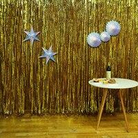 366*244cm Christmas Celebration Party Background Fringe Curtain Plastic Streamers Wedding Birthday Party Decoration Backdrop