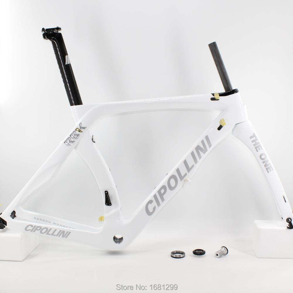 Newest White 700C Road Bike T1100 Glossy Matt 3K Full Carbon Fibre Bicycle Frame Carbon Fork+seatpost+clamp+headsets Free Ship