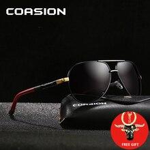 COASION Brand Design Classic Pilot Polarized Sunglasses Men Women Aluminum Sun Glasses Coating Lens for Driving Shades CA1222