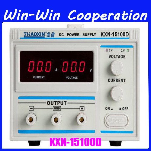 high quality KXN-15100D High-power DC power 0-15V 100A adjustable DC constant current power supply plating rps3020d 2 digital dc power adjustable power 30v 20a power supply linear power notebook maintenance