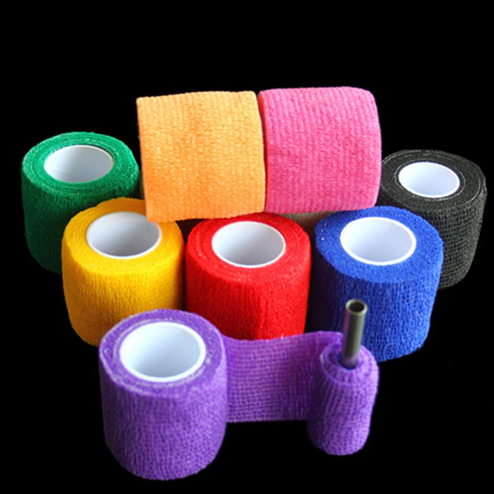Tattoo Accesories Grip Wrap Roll Elastic Bandage Handle Tube Disposable Nonwoven Self Adherent Tattoo Supplies-6pcs