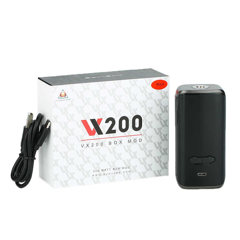 Оригинальные электронные сигареты Augvape VX200 Box Mod Мощность по Двойной 18650 Батарея электронная сигарета испаритель VS перетащите 2/Luxe Nano/Luxe Mod
