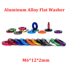 10pcs M6*12*2mm Aluminum flat washer for RC Model Part Anodized Aluminum countersunk Gasket Washer meson mix 11 colors 10pcs m6 12 2mm aluminum flat washer for rc model part anodized aluminum countersunk gasket washer meson mix 11 colors
