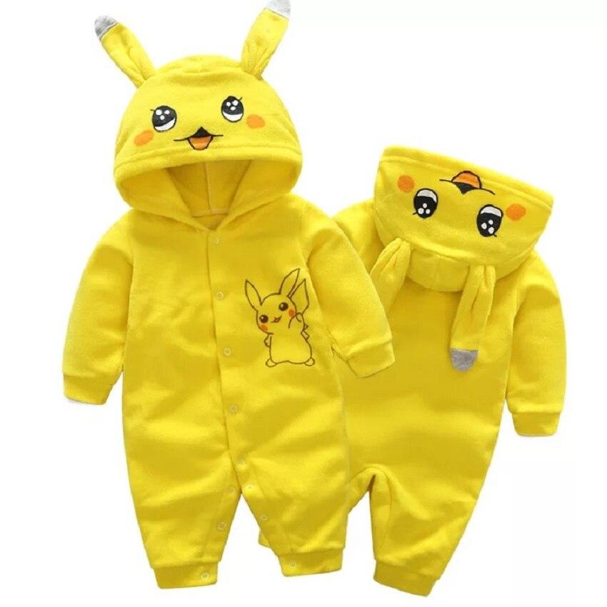 Peckon Go Pikachu Baby Boy Girl  Cute  Romper Brandl Romper Polar Fleece Jumpsuit Costume Baby Baby Girl Romper женские часы go girl only go 698464