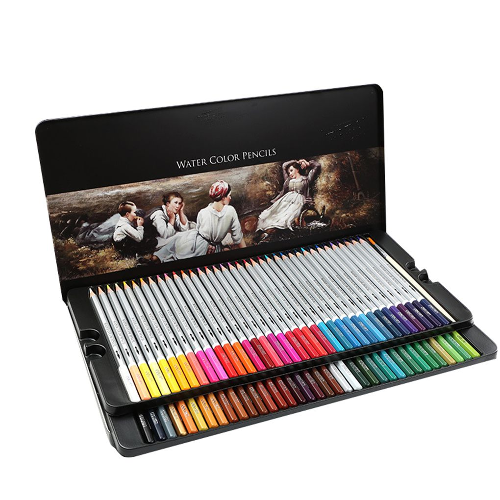 24 36 48 Colors Watercolor Pencils Drawing Pen Art Set Children Kids Painting Sketching Water Color Pencils Kit in Crayons from Office School Supplies