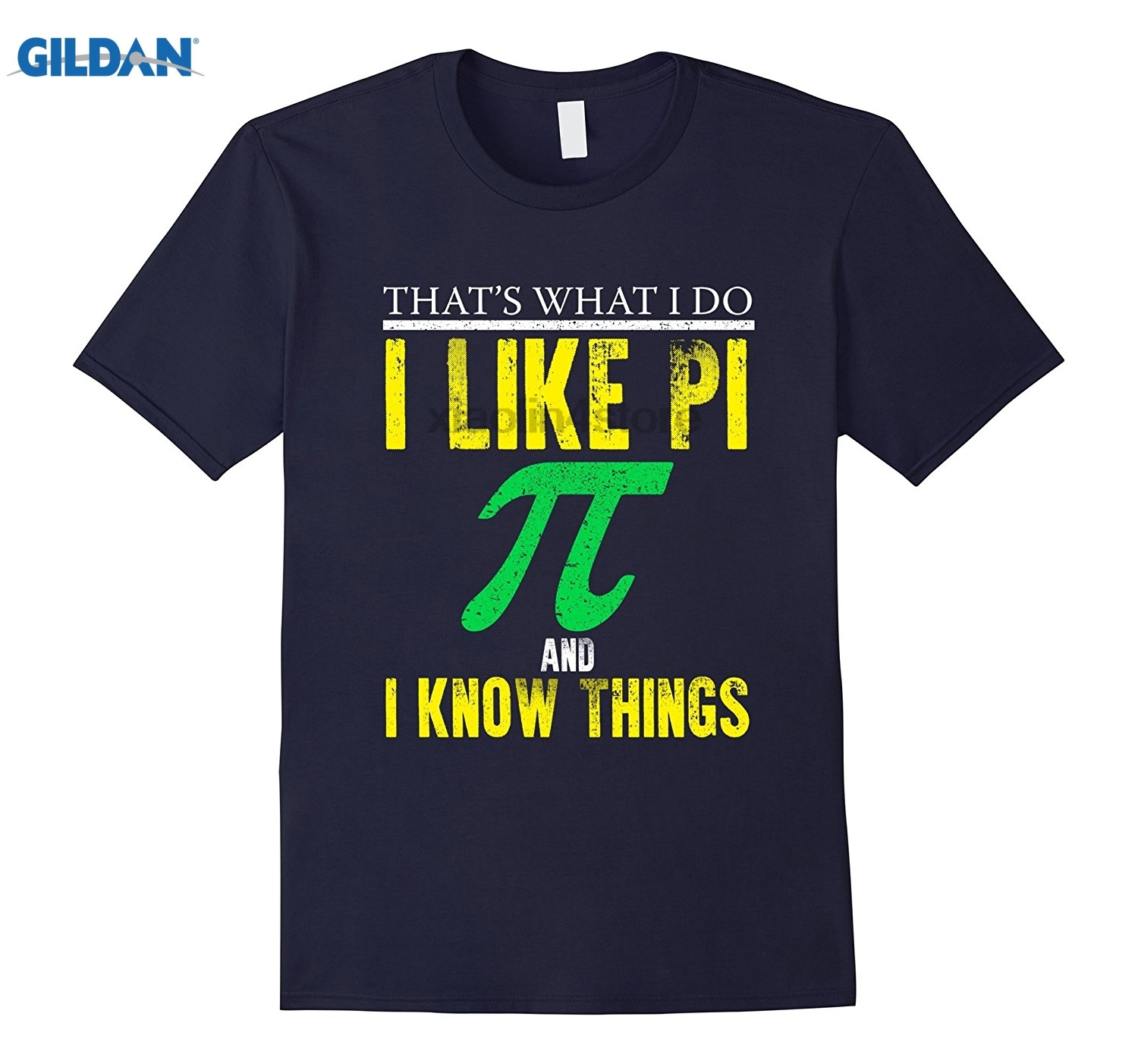 GILDAN FUNNY I LIKE PI AND I KNOW THINGS T-SHIRT Math Geek Gift Retro Summer Style Short Sleeve T-Shirt