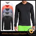 Men t shirt quick V-neck Long sleeve t-shirt solid polyester popular street wear slim fit dry tops tee us size summer mens tee