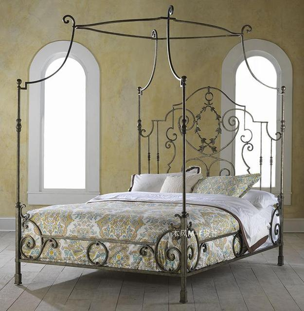 French Wrought Iron Bed Manning Bed Frame Bed Mantle Iron Bed