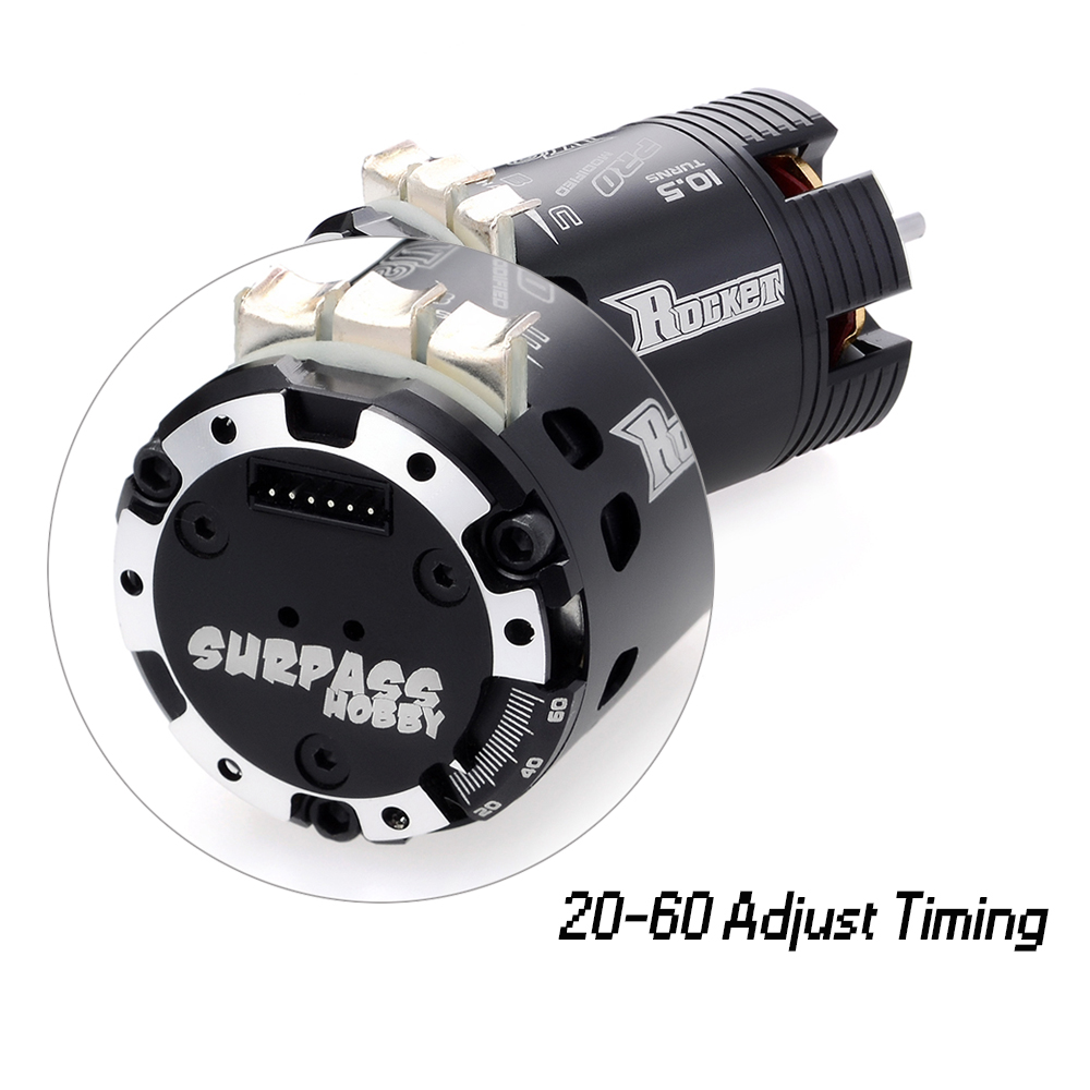 Image 4 - SURPASSHOBBY Rocket 540 V2 4.5T 5.5T 6.5T 7.5T 8.5T 9.5T Sensored Brushless Motor for Modified Competition 1/10 1/12 F1 RC Car-in Parts & Accessories from Toys & Hobbies