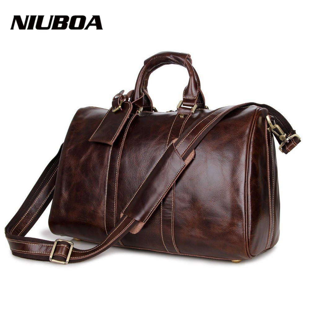 Large Waterproof Travel Bag Genuine Leather Shoulder Bag Fashion Men Leather Travel Duffle Top Leather Weekend Handbag Palaestra high quality authentic famous polo golf double clothing bag men travel golf shoes bag custom handbag large capacity45 26 34 cm