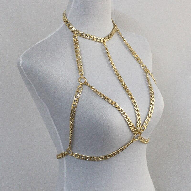 Home Beurself Rhinestone Leg Chain Sexy Summer Beach Bikini Silver Gold Color Fashion Bling Halter Belly Chain For Women Dropshipping