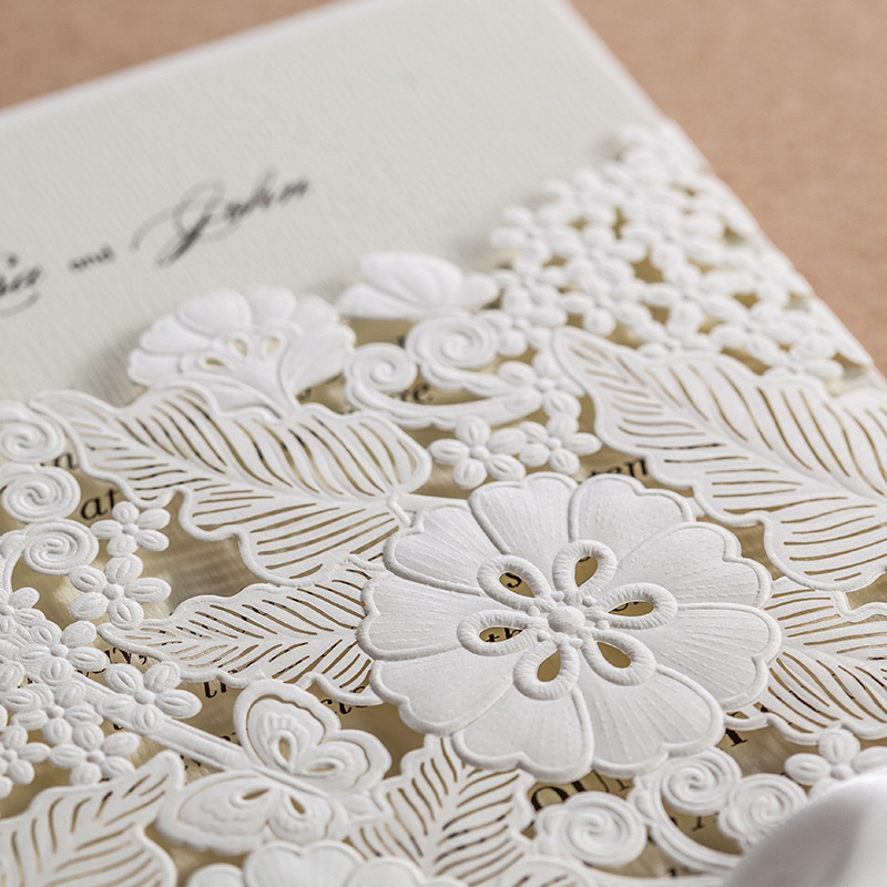 Laser Cut Wedding Invitations Cards Engagement Flowers Birthday ...