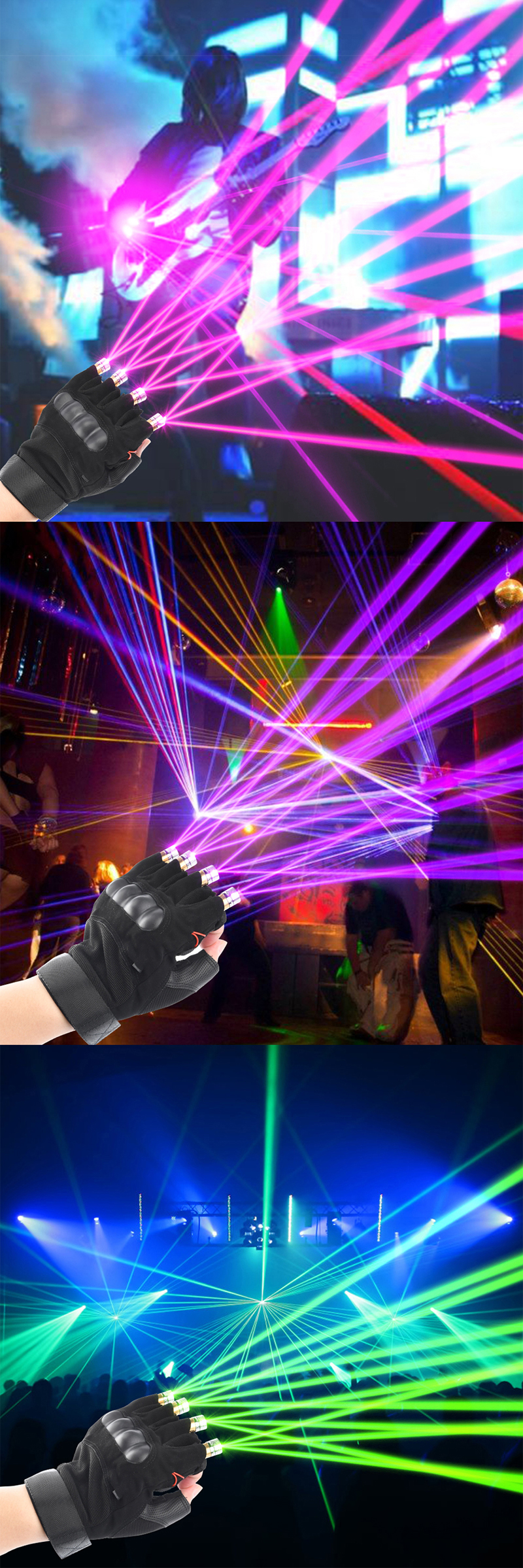 Cool Finger - Laser Gloves - Flashlight - for Party - Concert - Clubbing - Wedding - Birthday - Party - Outdoor Night Activities(19)