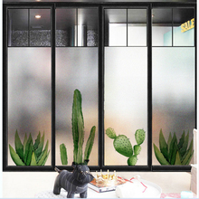 Window Glass stickers Nordic plant electrostatic frosted glass film foil bathroom window paper transparent opaque