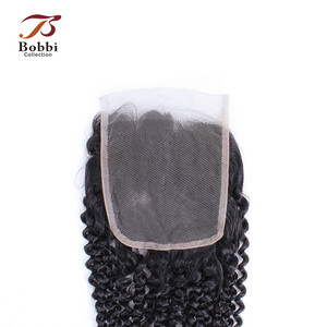 Image 5 - Bobbi Collection Afro Kinky CURLY ลูกไม้ปิดบราซิล Remy มนุษย์ผมสีดำธรรมชาติ 8 20 นิ้ว 4x4 ปิดลูกไม้