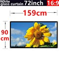 2016 new aarive 72 Inches 16:9 White glass curtain Projector Screen Suitable for HD 3D LED Smart Movie home theater Projector