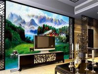 3D Wallpaper Custom Size Photo Wallpaper Country Landscape Painting Living Room Sofa TV Background Mural Wall Paper For Walls 3D