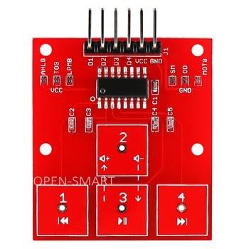 Открытый-умный 4-канальный сенсорный датчик 4 способа сенсорного управления модуль высокой чувствительности 4-CH сенсорная плата для управле...