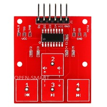 OPEN-SMART 4 Channel Touch Sensor 4 Way Touch Control module High Sensitivity 4-CH Touch Board for Arduino Music Control